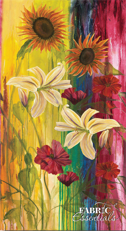 Frond - Daydeams IV - Love Blossoms - Sunflower - 611-06 - CANVAS PANEL - 23in x 44in