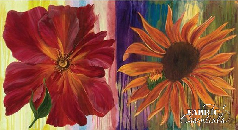 Frond - Daydreams IV - Rose and Sunflower with Baby - 611-03 - CANVAS PANEL