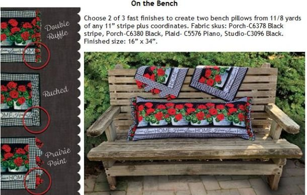 Brilliant On The Bench Kit Makes Two Bench Pillows Or Runners Caraccident5 Cool Chair Designs And Ideas Caraccident5Info