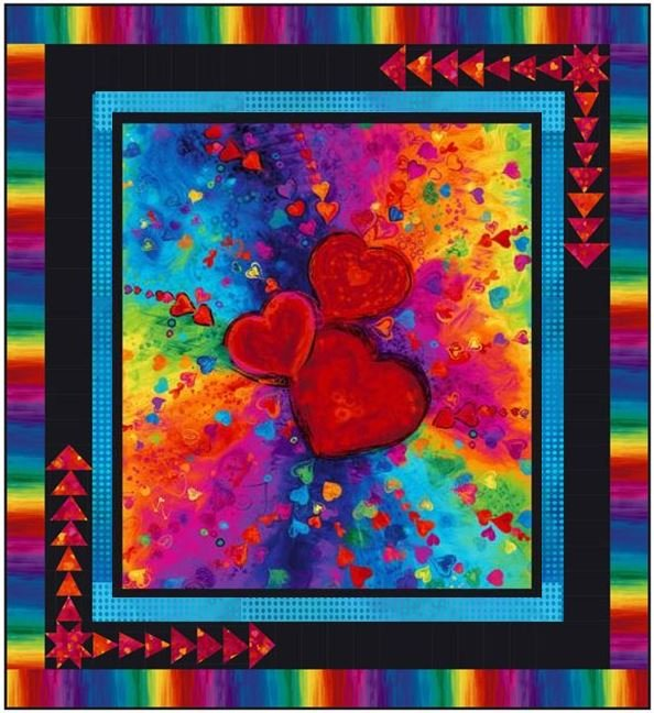 Timeless Treasures - Full Heart Quilt KIT - Two Options!