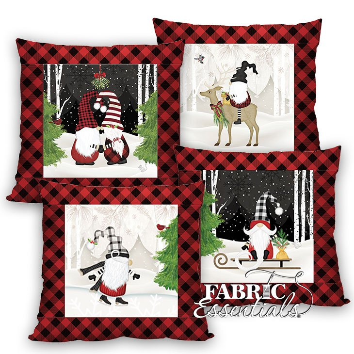 Gnome-antics - 4 Panel Throw Pillows Kit ~ PRE-ORDER for delivery in two weeks!!!