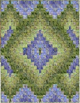 Layered Diamonds Bargello Quilt Kit - Green & Violet