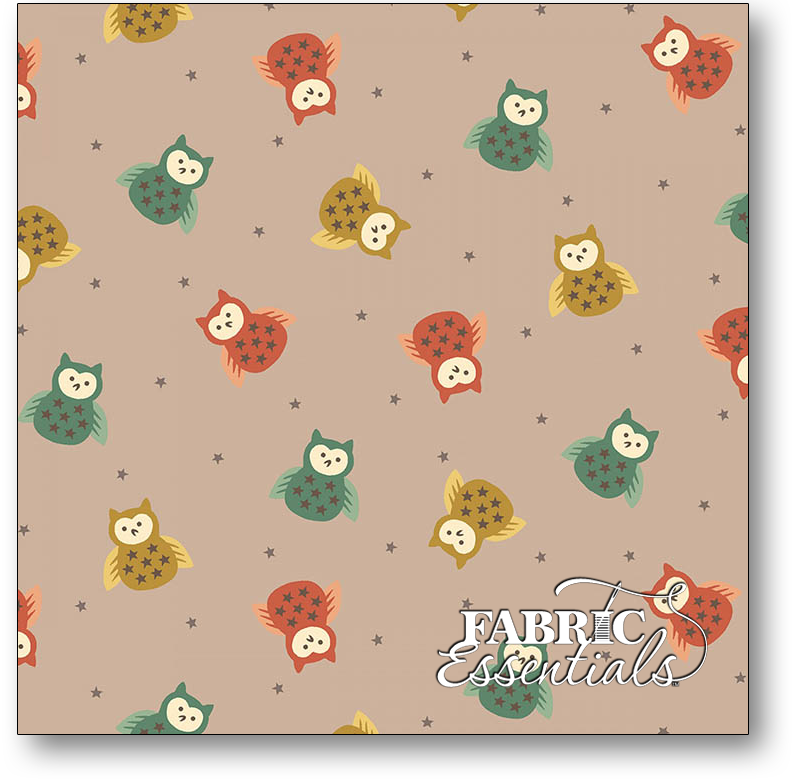 Henry Glass - Kim Diehl - Bumble Garden - 2-Ply FLANNEL - F1400-90 - Tossed Owls - Gray