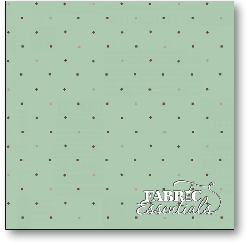 Henry Glass - Kim Diehl - Bumble Garden - 2-Ply FLANNEL - F1407-11 - Diamonds and Squares - Aqua