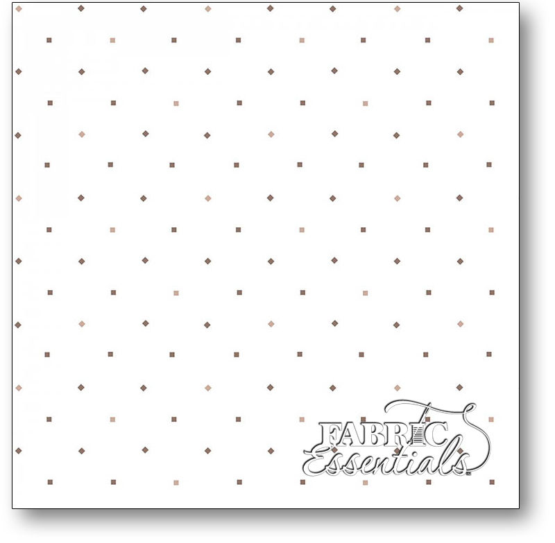 Henry Glass - Kim Diehl - Bumble Garden - 2-Ply FLANNEL - F1407-93 - Diamonds and Squares - Cream