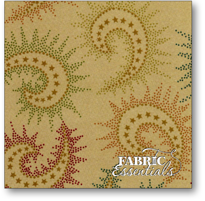 Henry Glass - Kim Diehl Collection - Spiced Paisley - 108in Wide Backing - 6368-33  Dark Tan