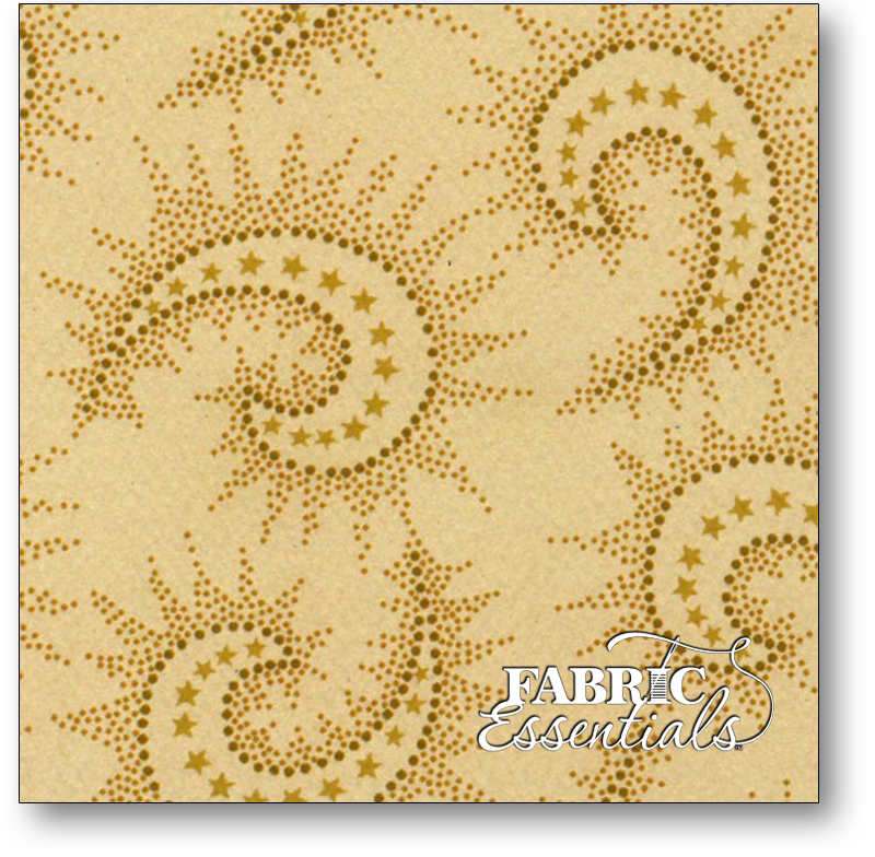 Henry Glass - Kim Diehl Collection - Spiced Paisley - 108in Wide Backing - 6368-44  Light Tan
