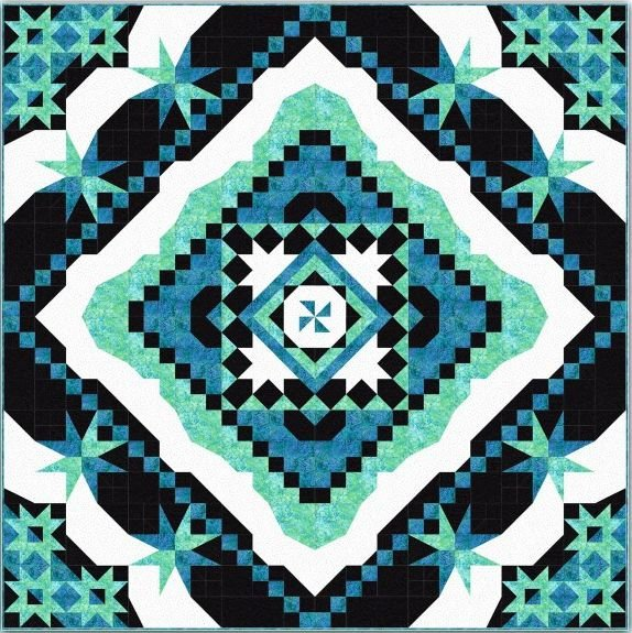 Hera - BOM - Main Quilt - Includes Pattern - 80in x 80in - SOLD OUT!