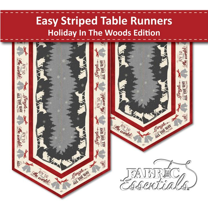 Holiday in the Woods - Table Runners Kit - Makes 2! (See Note)