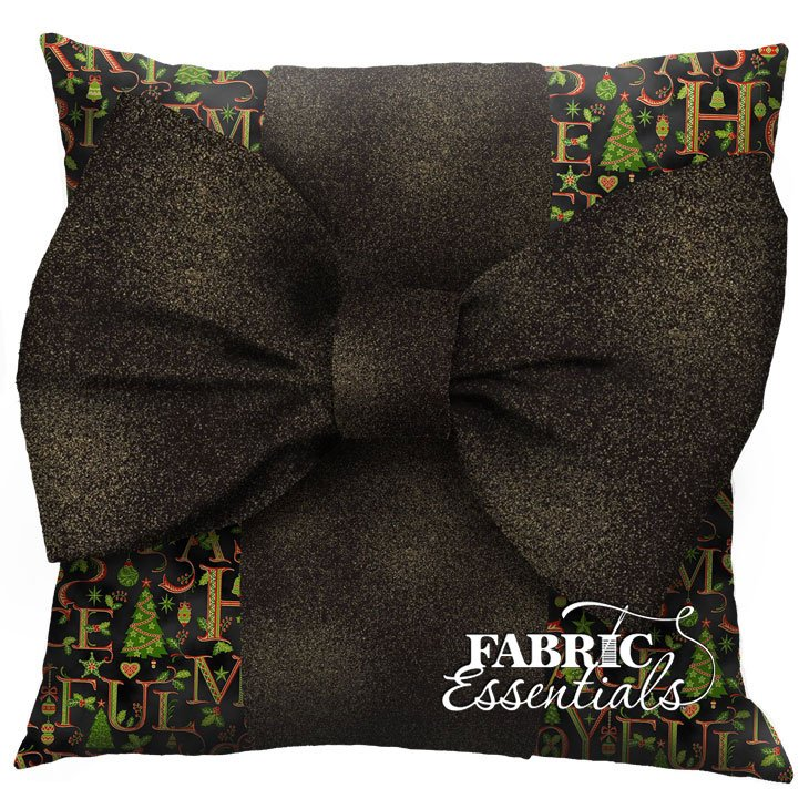 Holiday Words - Big Bow Pillow Kit!