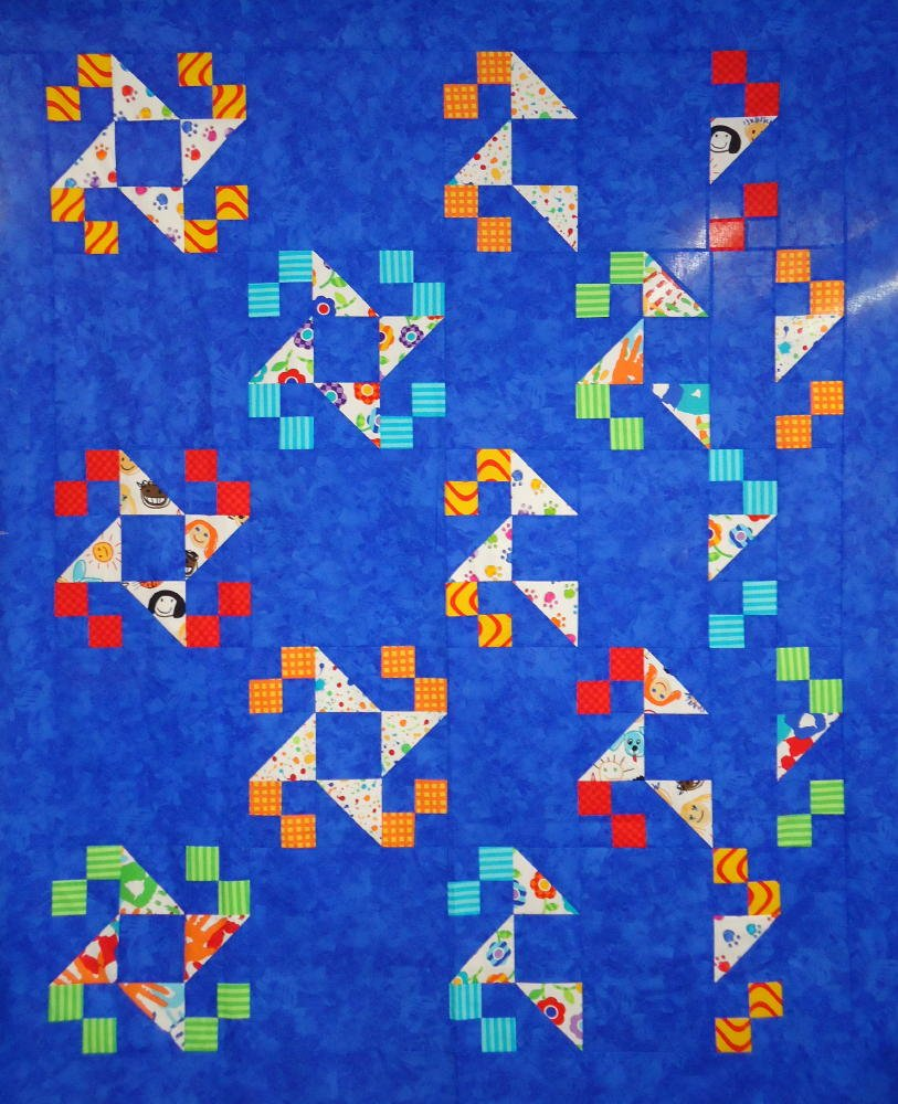 Indian Puzzle Quilt KIT - Brights - Includes Backing!