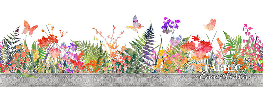 In The Beginning - Garden of Dreams - 8JYL-1 - Floral Border Print