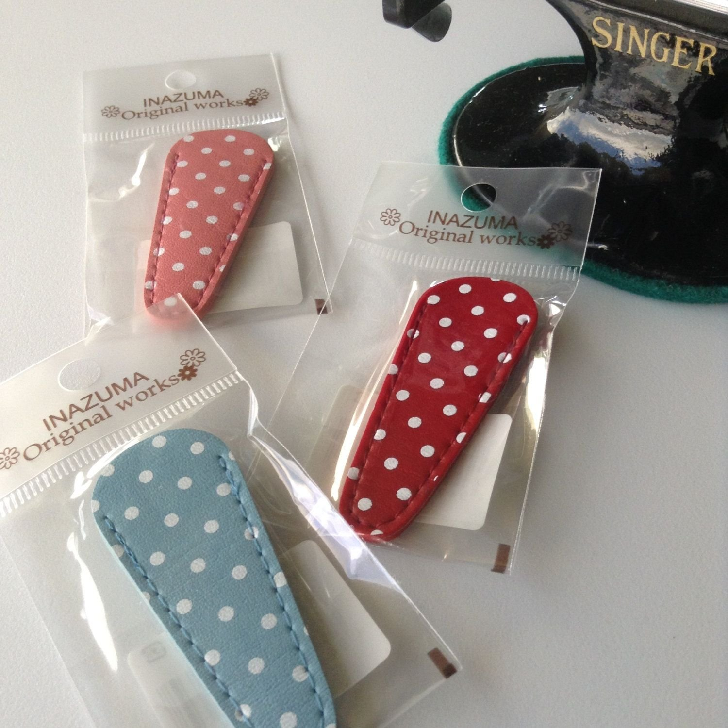 Inazuma Original Works - One Embroidery Scissor Case - EMA-3 Red Polka Dot