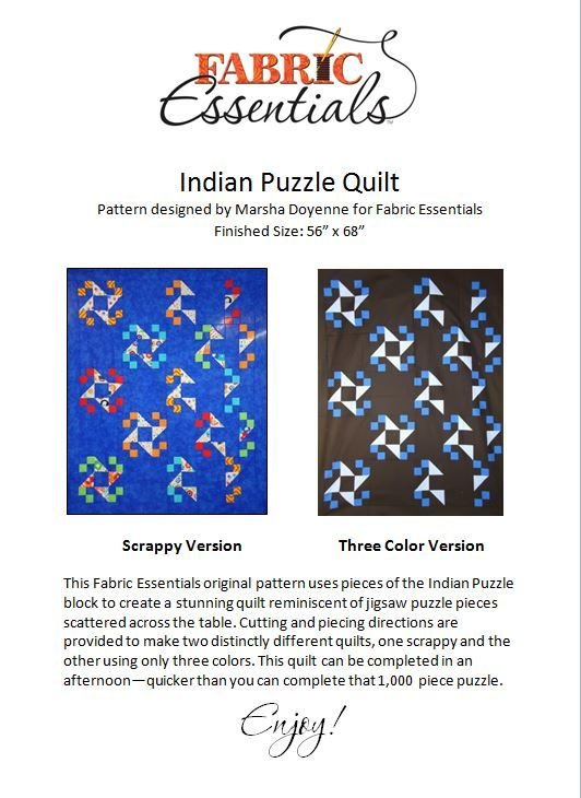 Indian Puzzle Quilt - Pattern