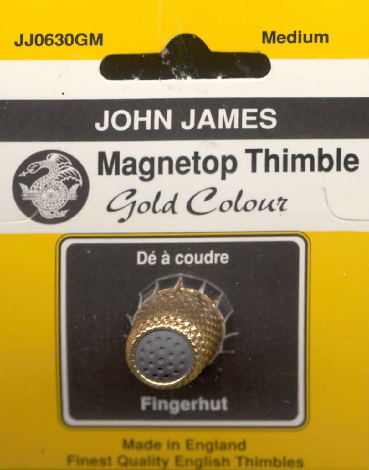 John James - Magnatop Thimble Gold - JJ0630GM - MEDIUM