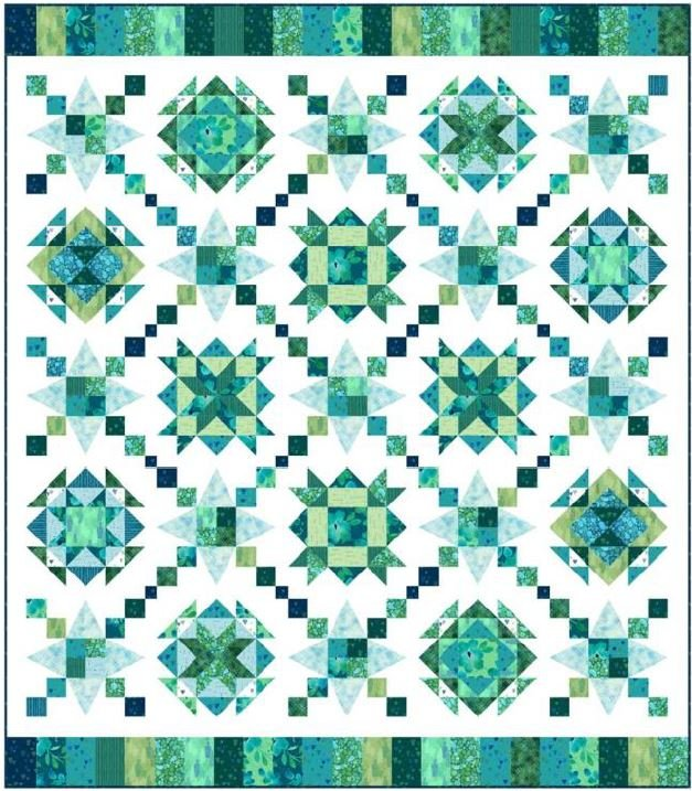 Designer Duo - Seaglass Quilt KIT + Pattern + Cutting Diagrams!
