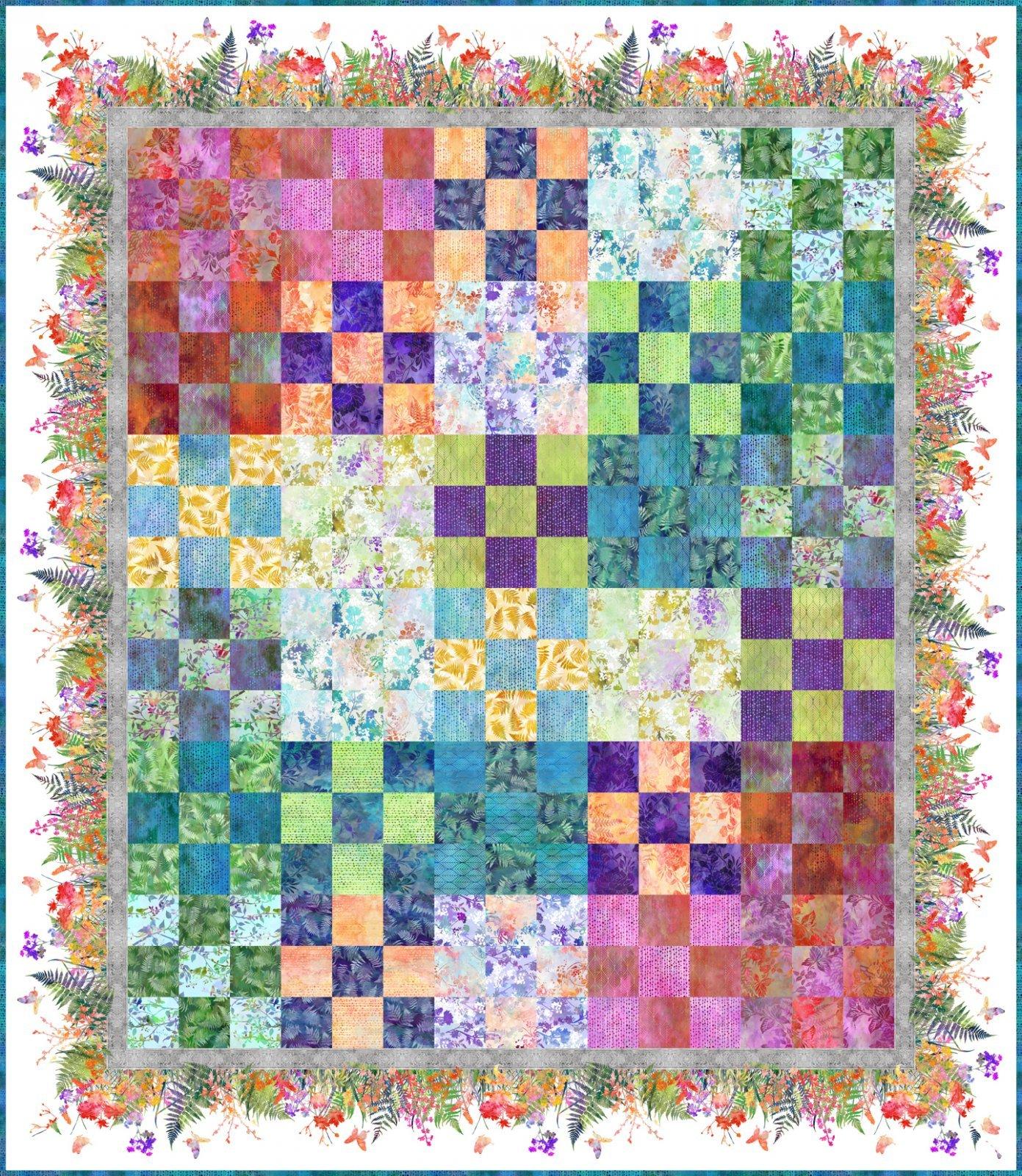 In The Beginning - Garden of Dreams by Jason Yenter - Garden 9-Patch Quilt KIT!