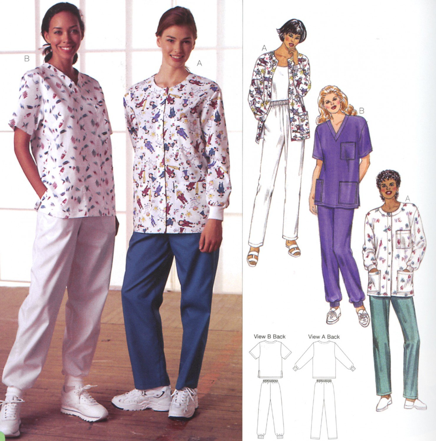Kwik Sew - Misses' Scrubs with Pockets - Sizes S-XL - K2807