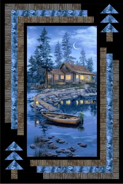Lakeside Cabin Retreat Wall Quilt KIT ~ Two Options!