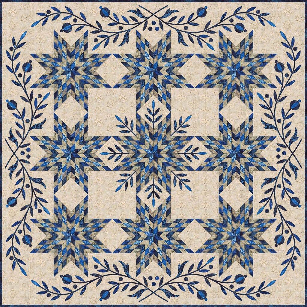 Laundry Basket Quilts - Snowflake Quilt Pattern - LBQ0291