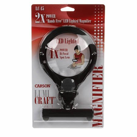 Carson - 2x Hands Free LED Lighted Magnifier - LC-15