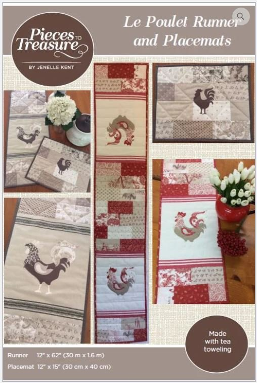 Le Poulet Runner and Placemats - PTT-146