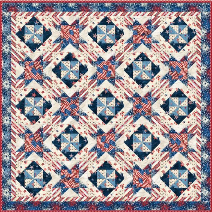 Liberty Lane - Basic Table Topper Quilt ~ Includes Backing!