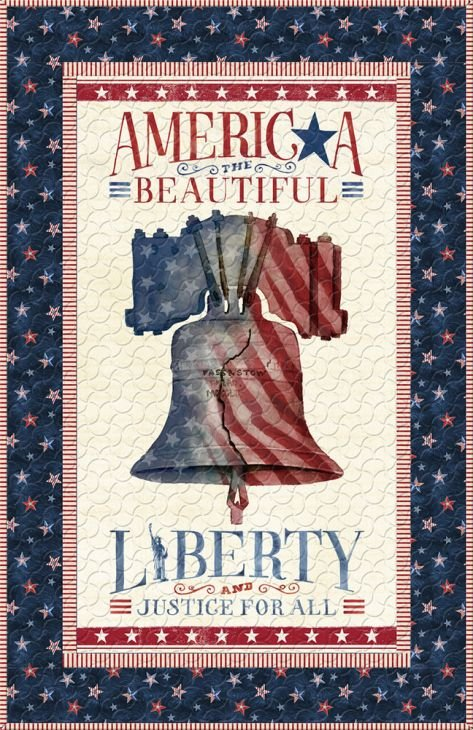 Liberty Lane - Panel Quilt ~ Includes Backing!