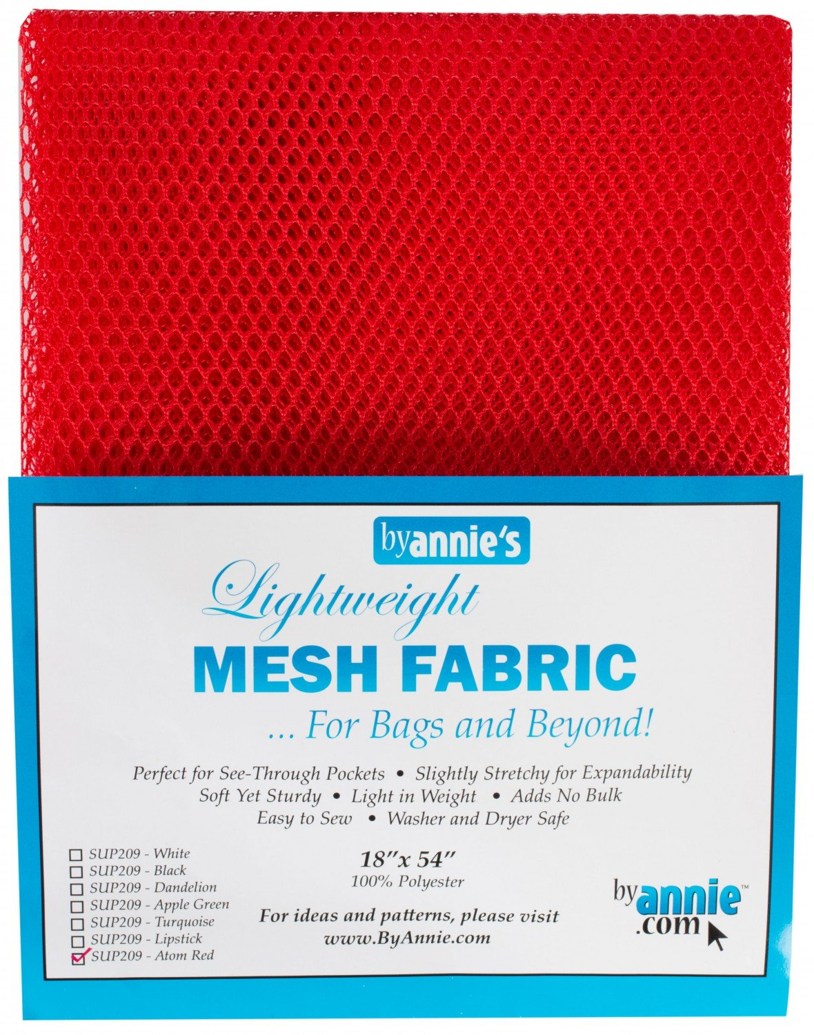 Lightweight Mesh Fabric - Red - 18x54in - SUP209-RED