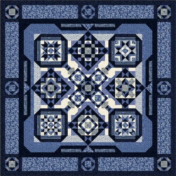 London Blues BOM Quilt - Backing Included - MORE COMING SOON - Call 785-243-4044 to get on waiting list!!