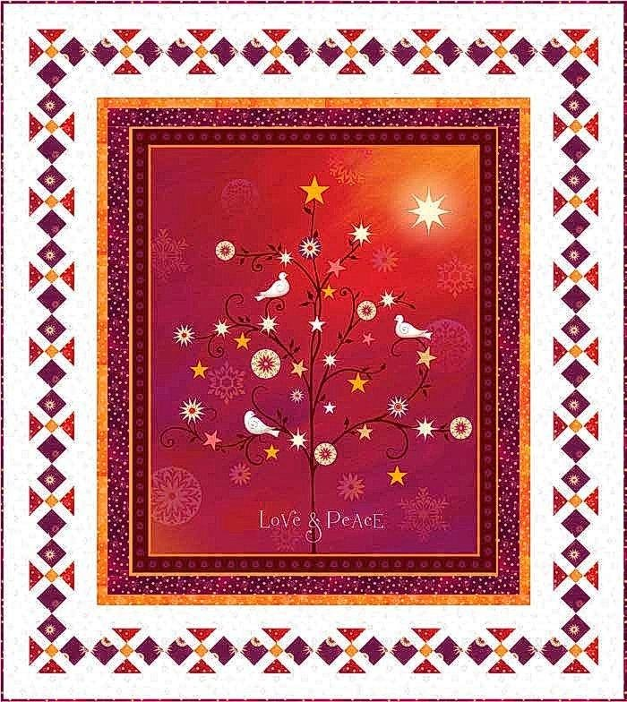 Love & Peace Quilt KIT - Includes Backing!