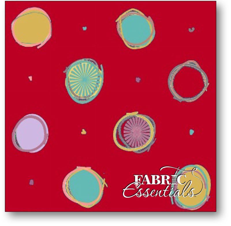 Marcus - Amish With A Twist - 60in Wide Backing - R39-0541-0111 - Red Dots