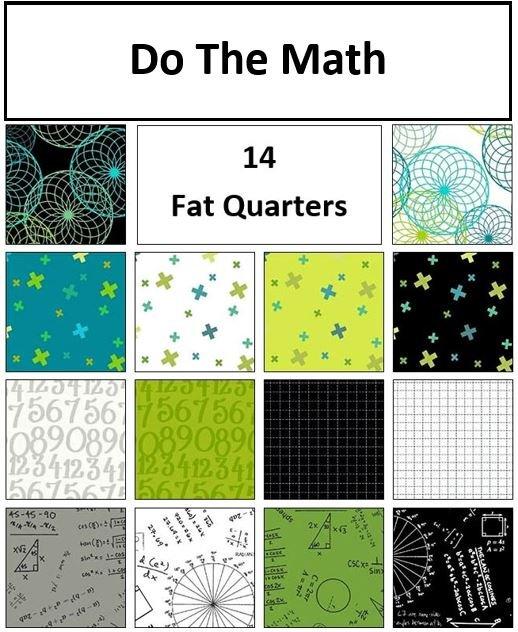 Marcus - Do The Math - Bundle of 14 Fat Quarters + BONUS Fat Quarter!