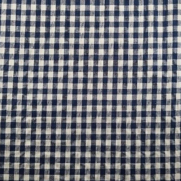 Marcus - Dorothy Collection - Woven - 3676 - Navy & White 1/4  check
