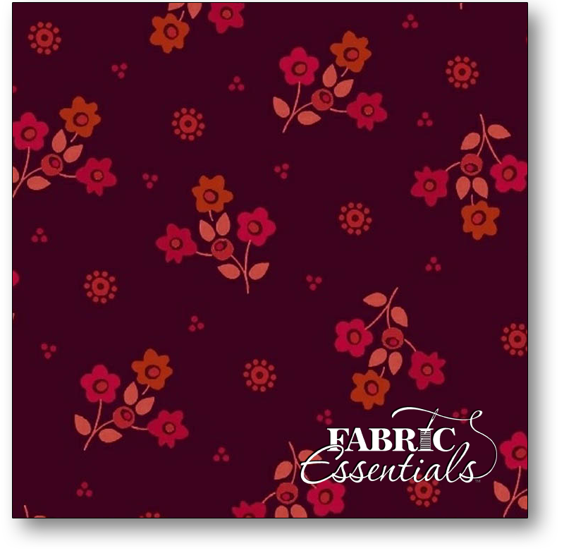 Marcus - Intrigue - R15-1403-0189 - Tiny Flowers - Wine
