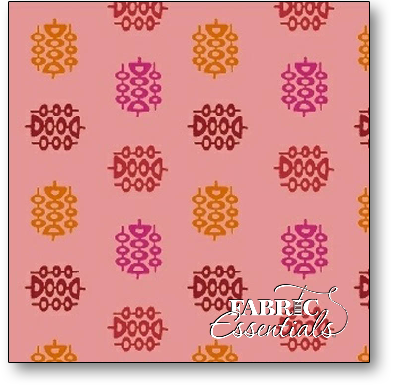 * Marcus - Intrigue - R15-1411-0189 - Dots - Pink and Orange - BUY THE BOLT - FANTASTIC PRICE ON 15 YARDS!