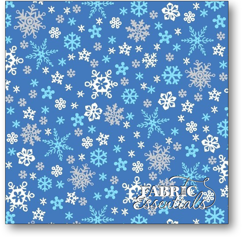 Marcus - Let it Snow - Snowflakes - R25-9645-0750 Blue Turquoise and Gray