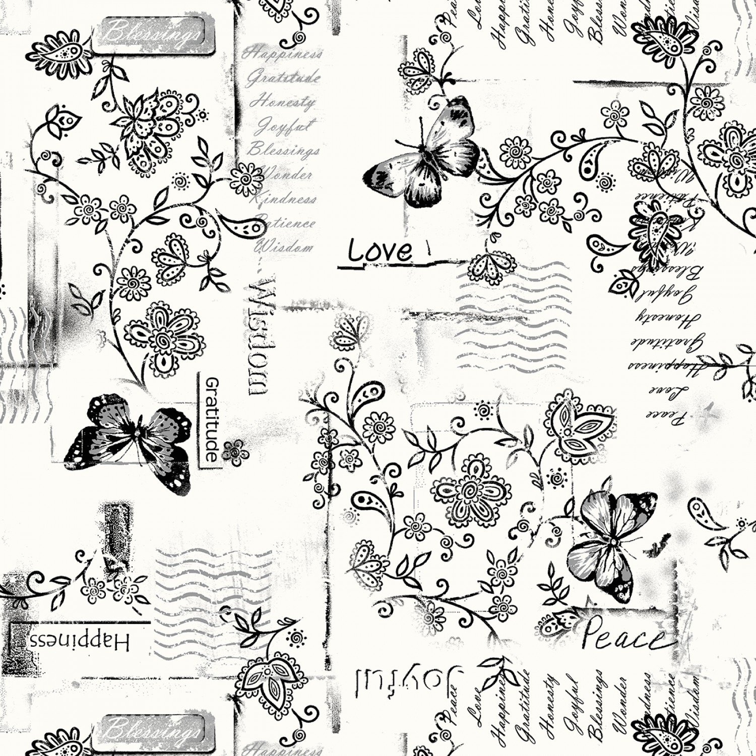 Marcus - Quilt Back - 108in Wide Backing - R36-0995-0146 White