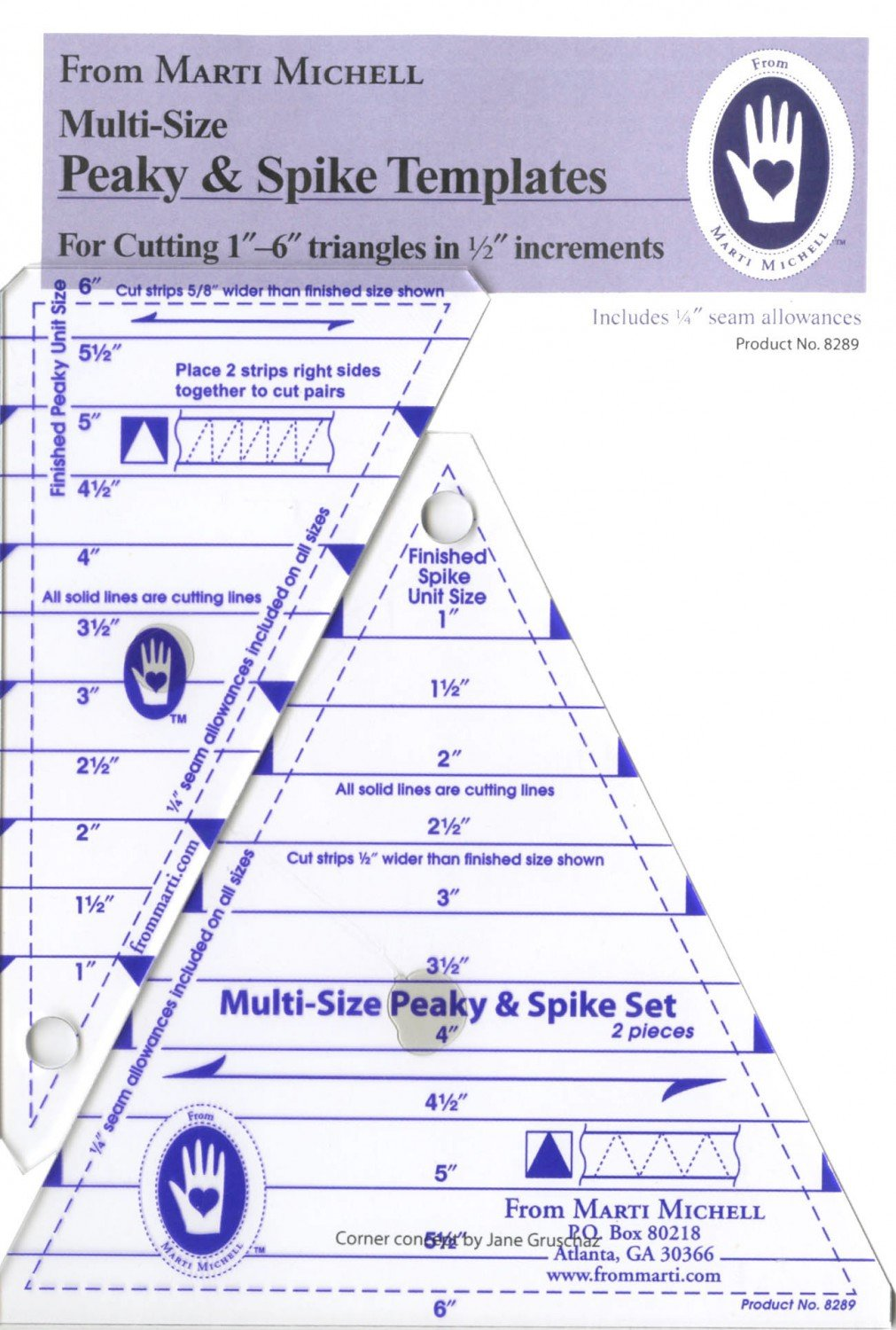 Marti Michell - Peaky and Spike Multiple Size Rulers - MM8289