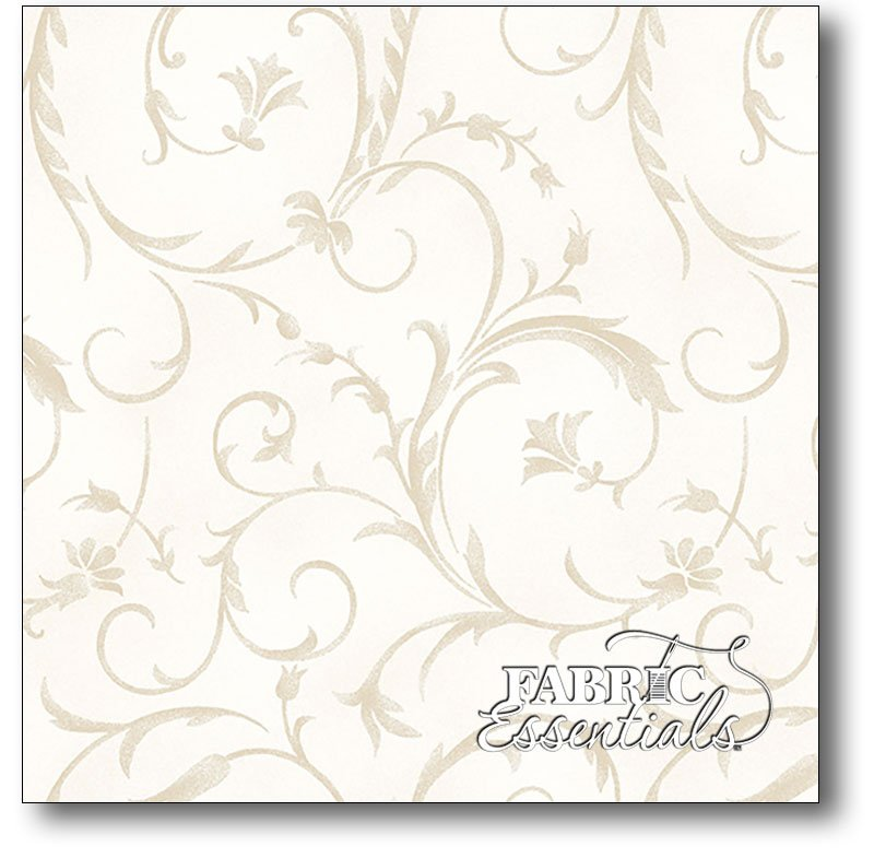 Maywood - Beautiful Backings - 108in Wide Backing - MASQB100-E Cream - BOLT END - 2yds 25in