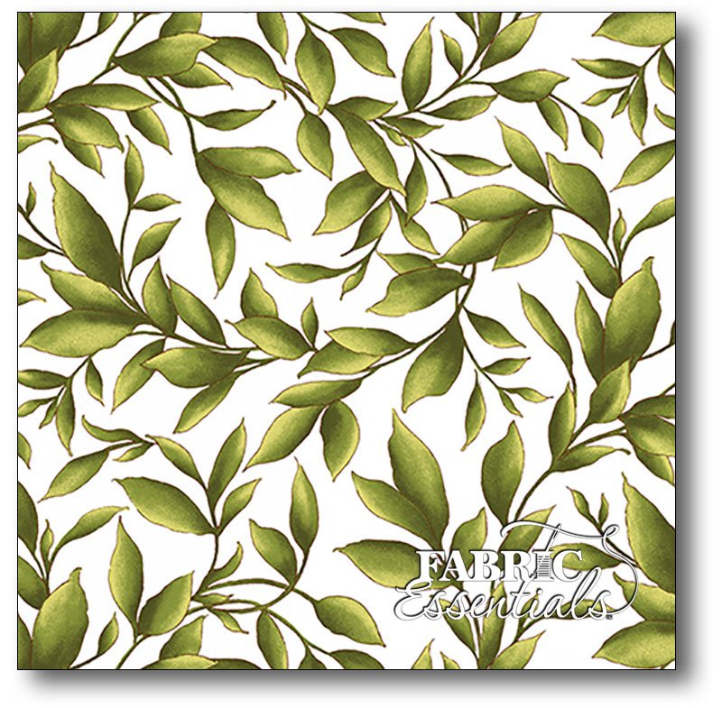 Maywood Studio - Catalina - Leaves - MAS8403-W White