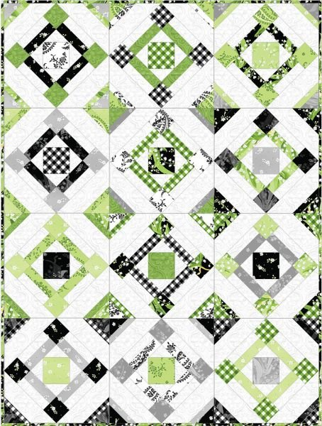 Maywood Studio - Greenery Collection - Fair & Square Quilt Kit!