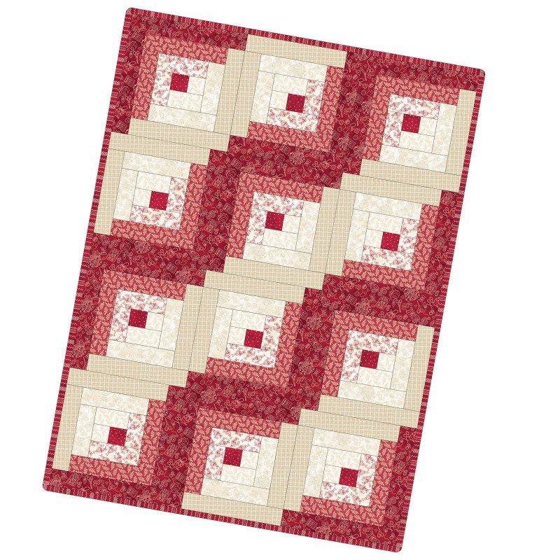 Maywood - The Little Things - 12 Block Log Cabin Quilt KIT - PreCut Patchwork Pieces - POD-MAS02-TLT