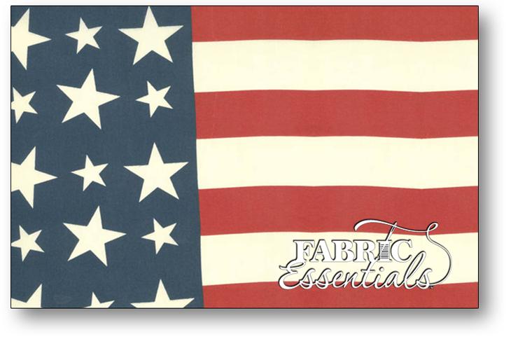 Moda - 19in Bar Harbor Flag Bunting - 12211-22 - Red-White-Blue
