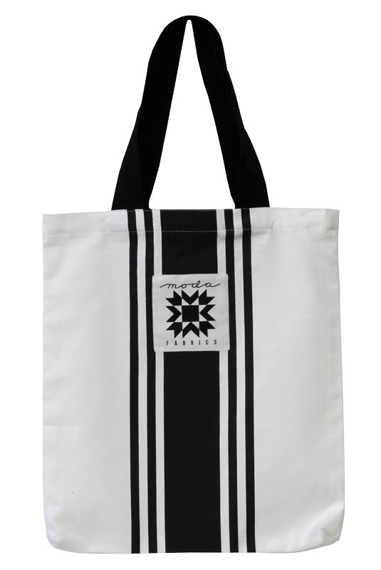 Moda - Urban Chicks - Small Urban Cottage Tote - White with Black Stripes - 963-69