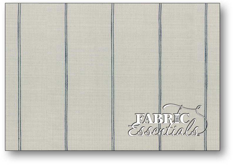 Moda Toweling - 992-231 - 16in Picnic Point Tea Toweling - Linen Color with Blue Stripes