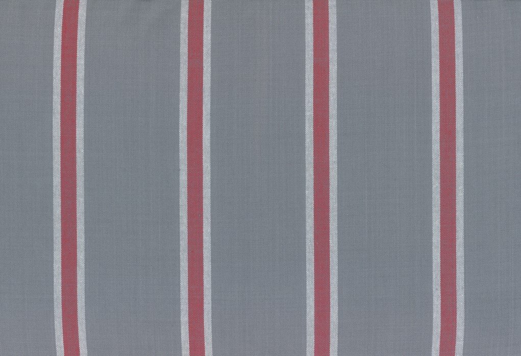 Moda Toweling - 992-263 - 18in Rock Pool Toweling - Rocks Gray with Red Stripe