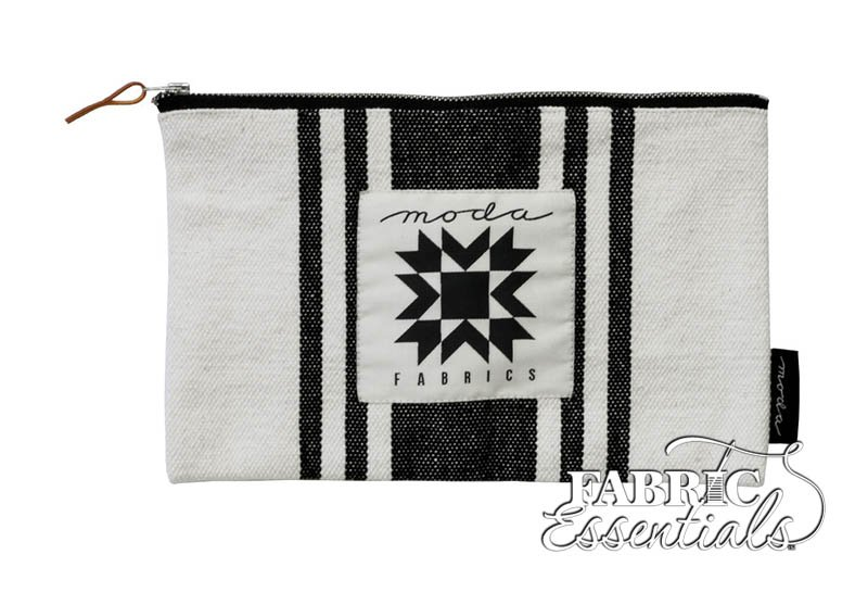 Moda - Urban Chicks - Urban Cottage Zipper Bag - Ivory with Black Stripes - 963-67