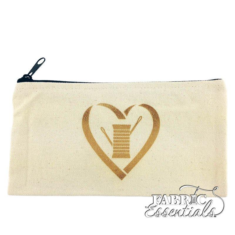 Moda - Zipper Bag - Heart Needle Thread - FF1406