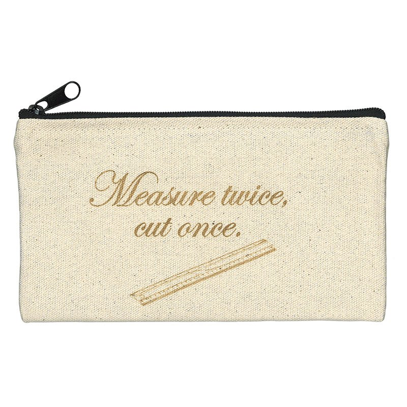 Moda - Zipper Bag - Measure Twice Cut Once - FF1407